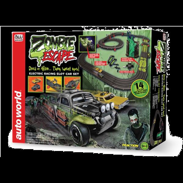Auto World 14' Zombie Escape HO Scale Slot Race Set - RS323