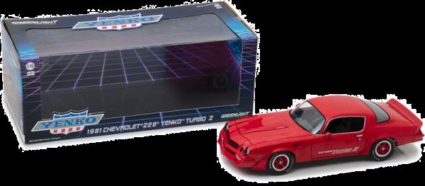 GreenLight 1:18 Scale 1981 Chevrolet Z28 Red Yenko Turbo Z Diecast Car - 12999