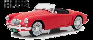 GreenLight 1:18 1959 Elvis Blue Hawaii MG A 1600 Roadster MKI Diecast Car-13524