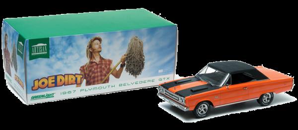 GreenLight 1:18 1967 Joe Dirt Plymouth Belvedere GTX Convertible Diecast -19006