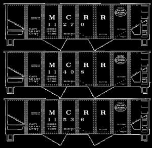 Michigan Central USRA Twin Hopper 3-Car Set - 25784