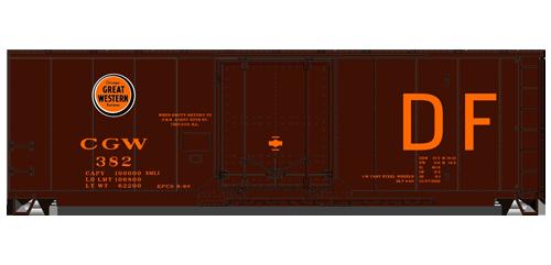Chicago Great Western 40' Plug Door Boxcar - 3133