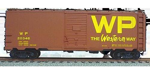 Western Pacific 40' AAR Single Door Steel Boxcar - 3516