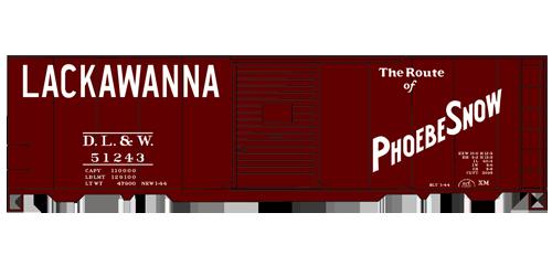 Lackawanna 40' AAR Single Door Steel Boxcar - 35279