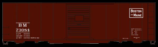 Boston & Maine  40' AAR Single Door Steel Boxcar - 3556