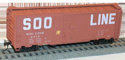 Soo Line 40' AAR Single Door Steel Boxcar - 35619