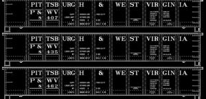 Pittsburgh & West Virginia 41' Steel Gondola - 37704