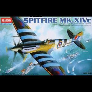 Academy 1/48 Scale British RAF Spitfire MK. XIV-C Fighter - 12274