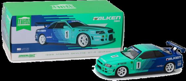 GreenLight 1:18 1999 #1 Falken Tires Nissan Skyline GT-R (R34) Diecast - 19050