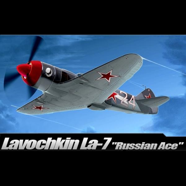 """Academy 1/48 Scale East German Lavochkin La-7 """"Russian Ace"""" Fighter - 12304"""