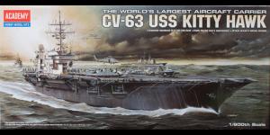 Academy 1/800 Scale USS Kitty Hawk CV-63 Aircraft Carrier - 14210