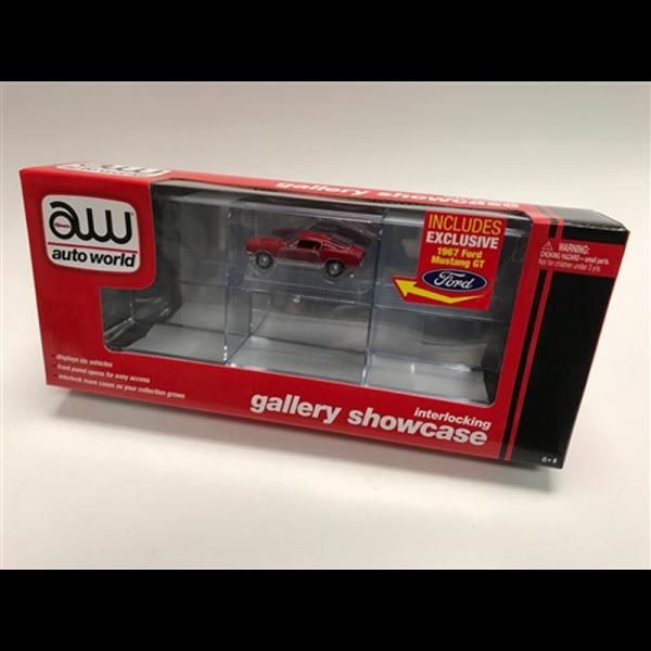 Auto World 6 Car Interlocking Display Case 1:64 w/ Car - C018