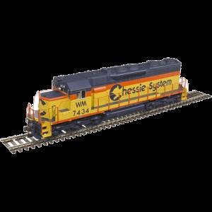 Atlas Gold SD35 Low Hood Chessie System [WM] #7435 Diesel Locomotive - 10002786