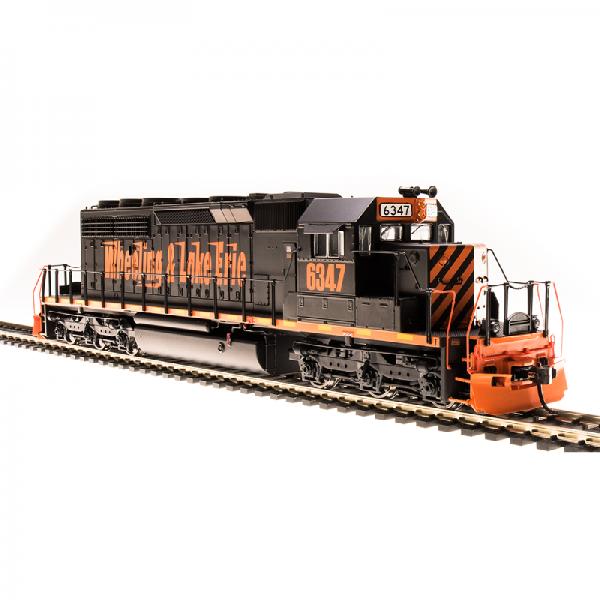 Broadway W&LE #6389 SD40-2 Black w/ Orange Scheme Diesel Locomotive - 5375