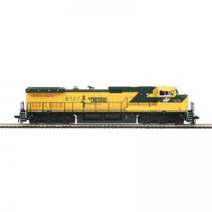 MTH CNW (OPLS Logo) #8727 Dash 9 Diesel Locomotive DCC Ready - 8022930