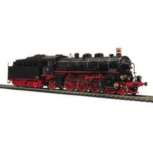 MTH Deutsche Bundesbahn #18 447 S 3/6 Era III Class 18.4 Blk/Red Wheels Steam Loco ProtoSound 3E+/3-Rail - 8032185
