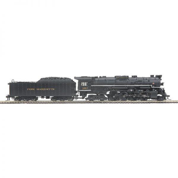 MTH Pere Marquette #1223 N1 Berkshire 2-8-4 Sm Letter Steam Loco ProtoSound/DC/DCC - 8032901