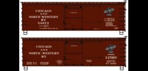 Chicago & North Western 36' Double Sheath Wood Boxcar 2-Car Set - 1232