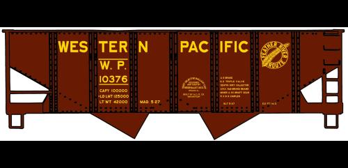 Western Pacific USRA Twin Hopper - 2436