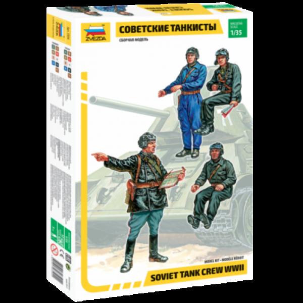 Zvezda 1:35 Scale Soviet Tank Crew WWII - 3504