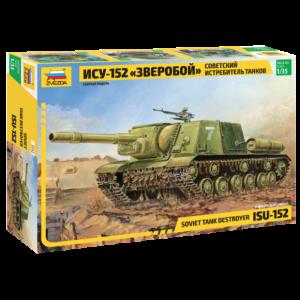 Zvezda 1:35 Scale Soviet Tank Destroyer ISU-152 WWII - 3532