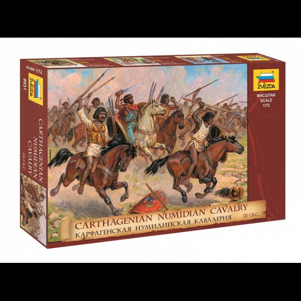 Zvezda 1:72 Scale Carthagenian Numidian Cavalry III-I B.C. - 8031
