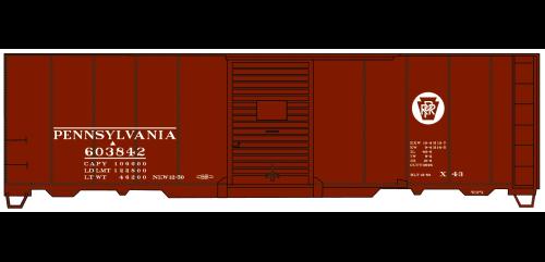 Pennsylvania (X43) Circle Keystone 40' AAR Single Door Steel Boxcar - 3558